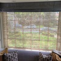 Bay window roman shades and valances finished